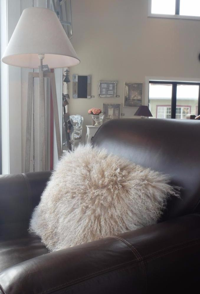 This beautiful Mongolian sheep cushion brings fantasy to your home design. Dimensions 60x40
